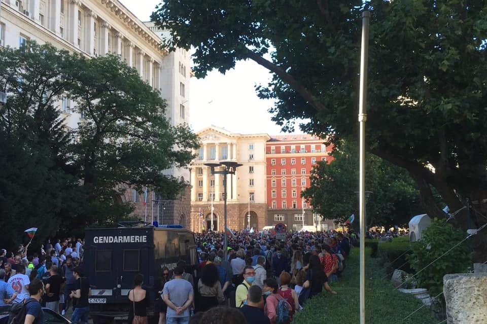 Протестиращи на Дондуков