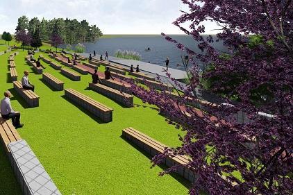 Кметът на София провери обновяването на парка край езерото в Дружба
