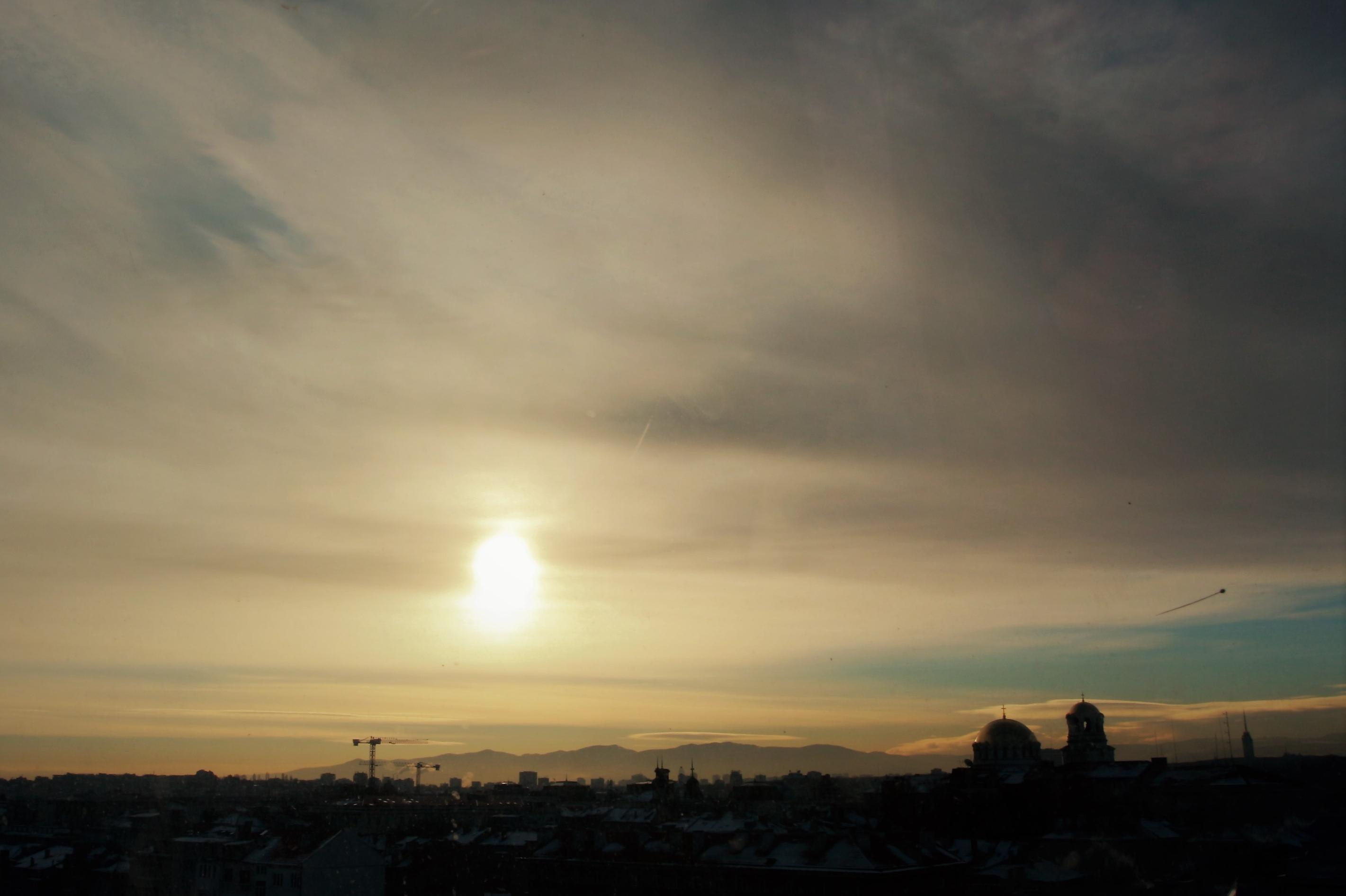 Утро над София