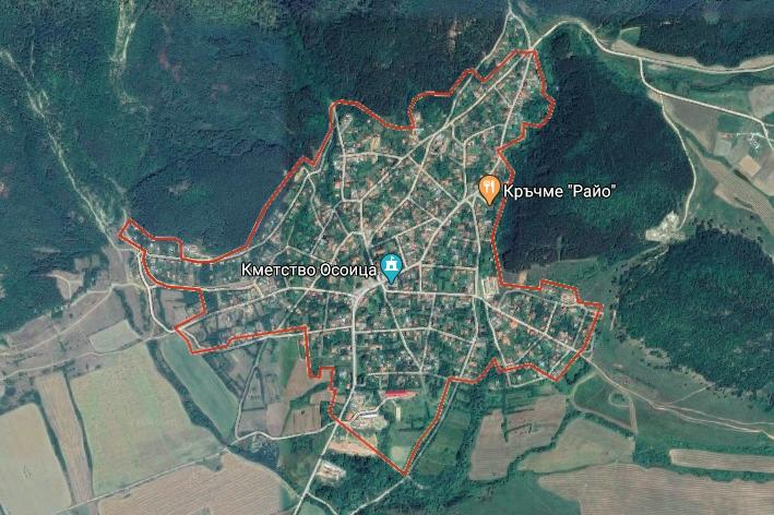 Лек трус разлюля село около София