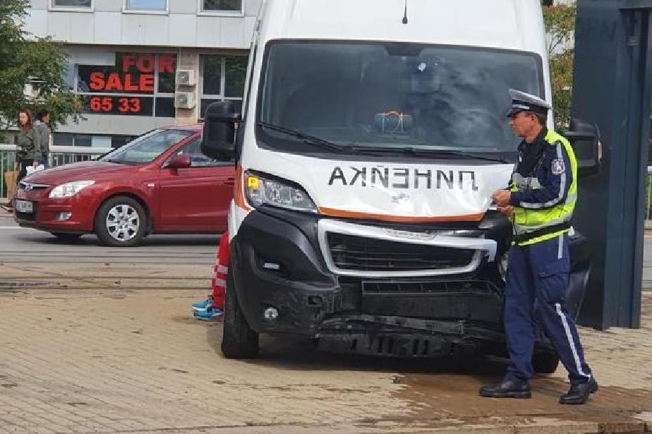 Катастрофа с линейка в центъра на София