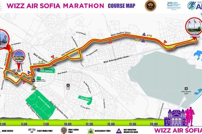 Затварят центъра на София за престижния маратон Wizz Air София 2020
