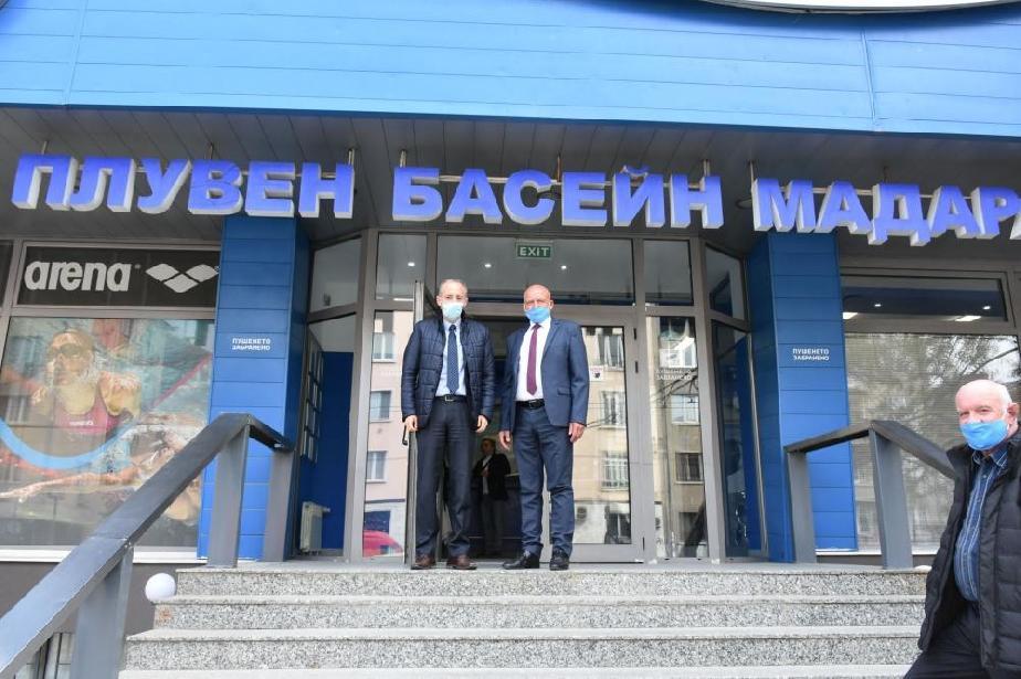 """Зам.-министърът на спорта откри ремонтирания басейн """"Мадара"""" на НСА"""