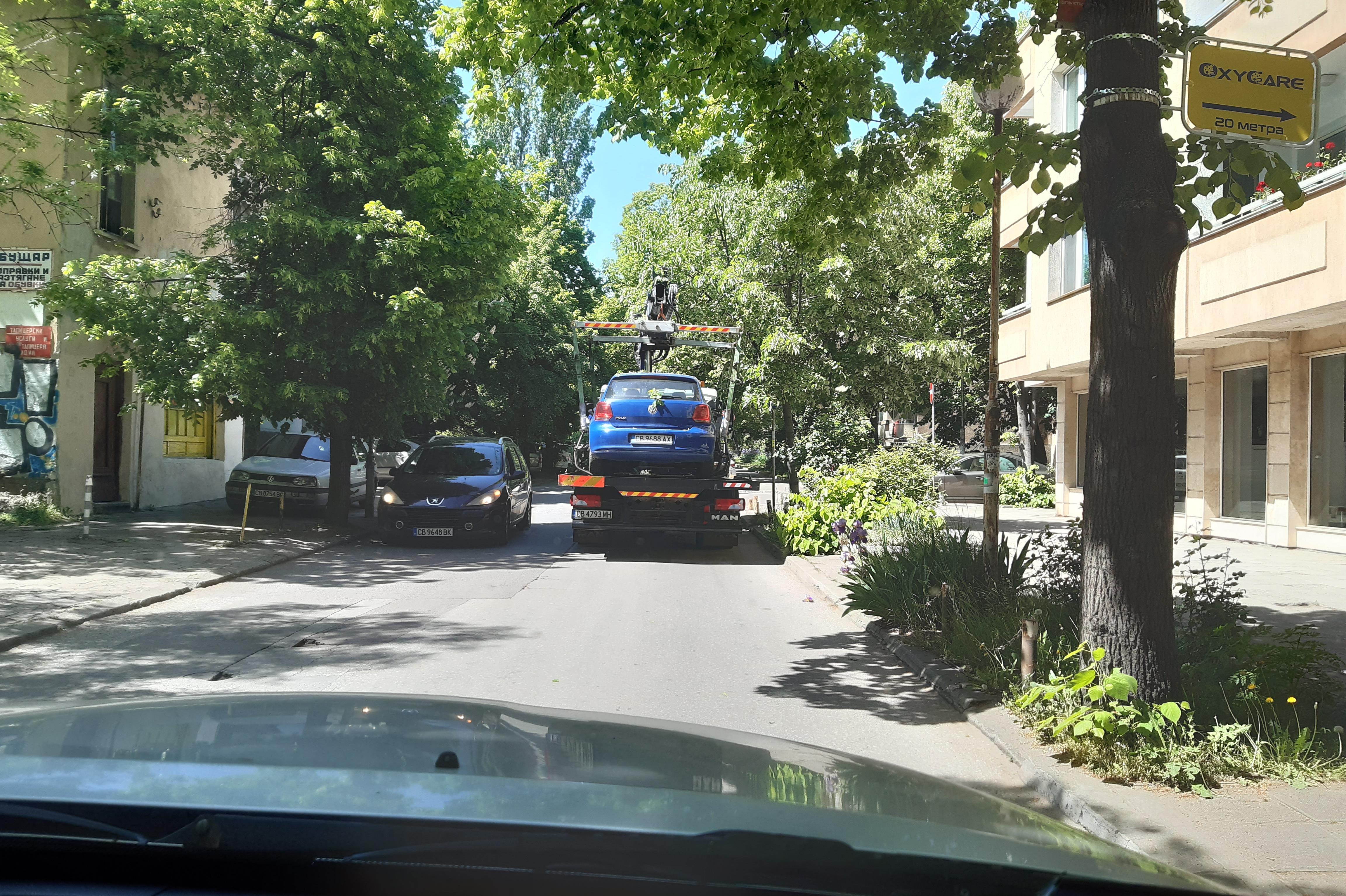 Глобиха над 200 шофьори в София за неправилно паркиране