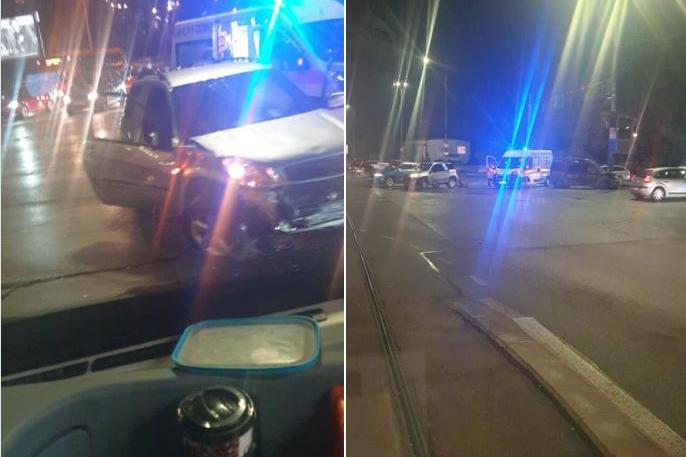 """Линейка и джип се сблъскаха на бул. """"Гешов"""" и бул .""""България"""" (СНИМКИ)"""