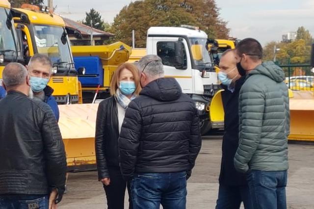"""София готова за първия сняг, кметът провери базата на """"Титан"""" в Княжево (СН"""