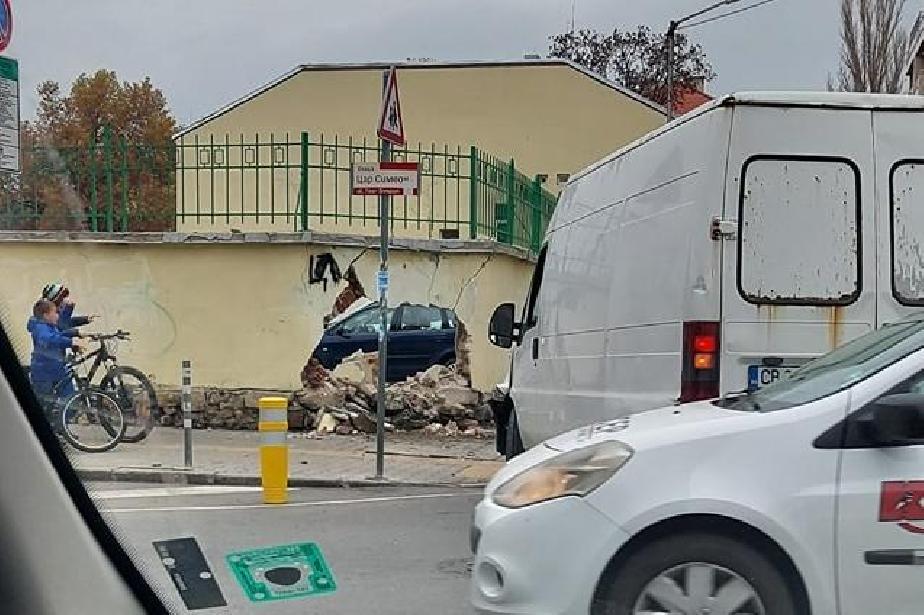 "Бус проби бетонна ограда на столичния ""Цар Симеон"""