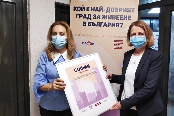 София с приз Жизнен град