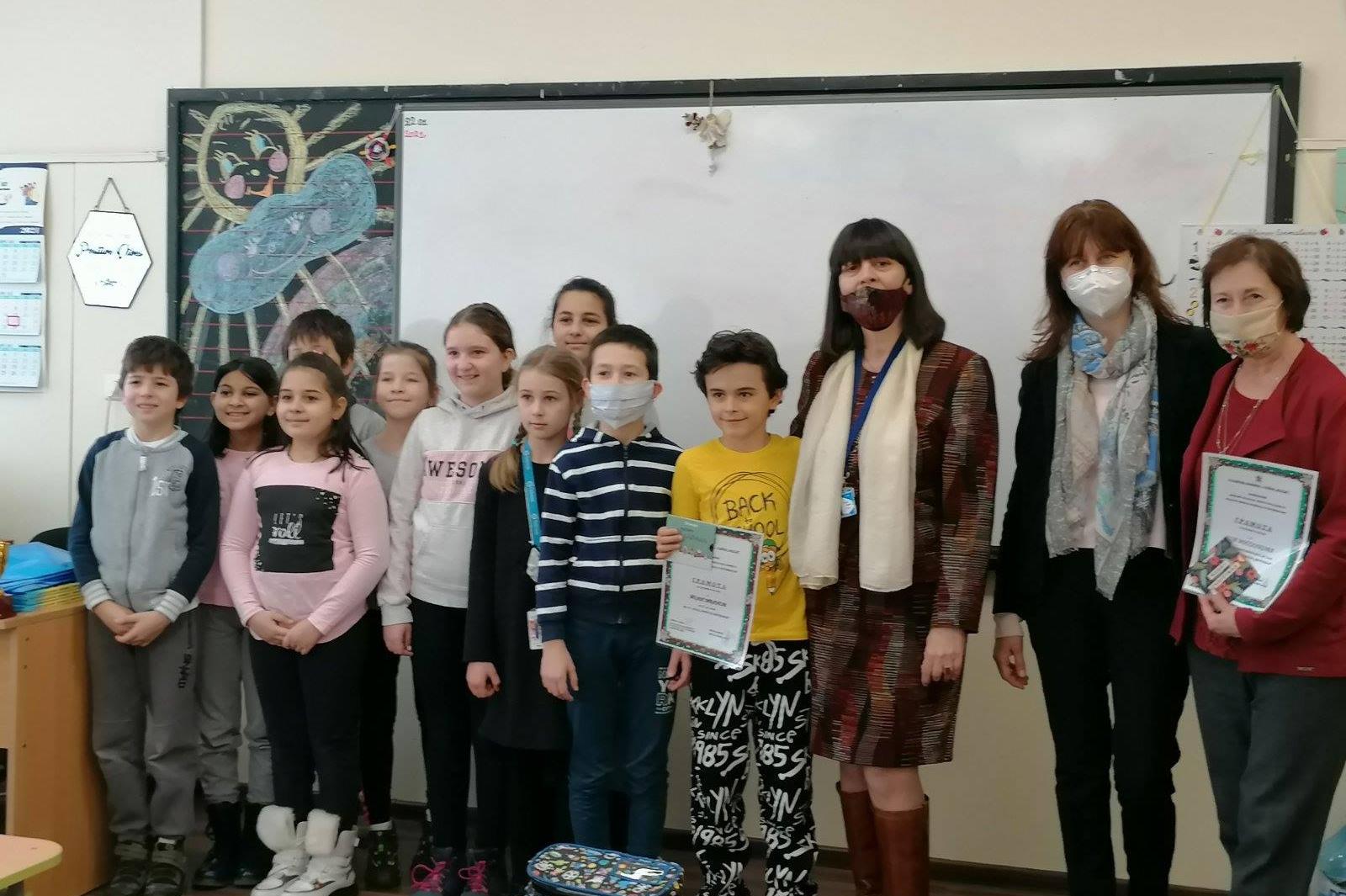 """Деца от 68 СУ """"Акад. Никола Обрешков"""" с награди за вдъхновяващи послания"""