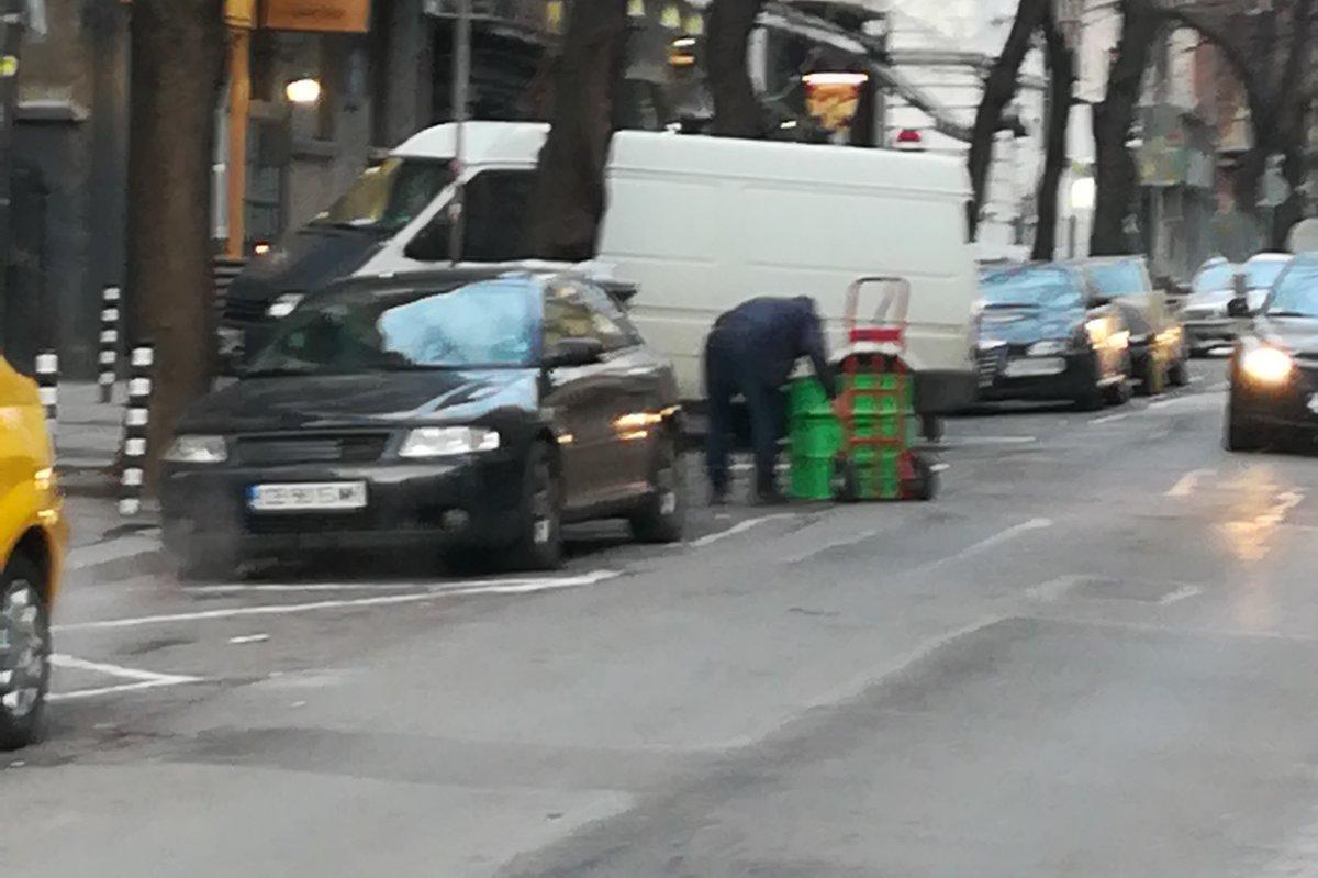 Глобиха търговец за смесване на отпадъци на бул. Витоша