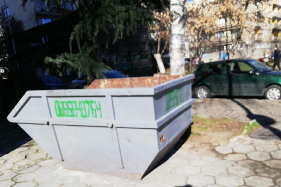 В Слатина глобиха мъж заради контейнер за строителни отпадъци