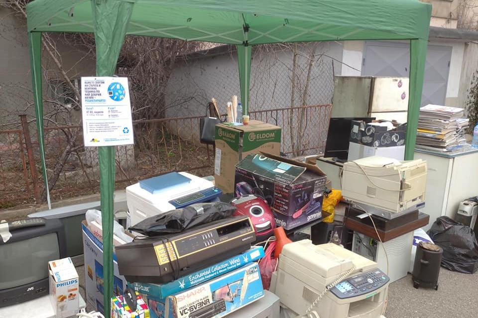 В Княжево и Павлово събраха за рециклиране стари  електроуреди