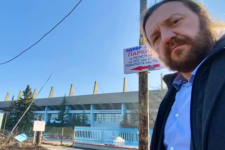 """Част от паркинга пред стадион """"Академик""""-за регистрация на камиони и влекач"""