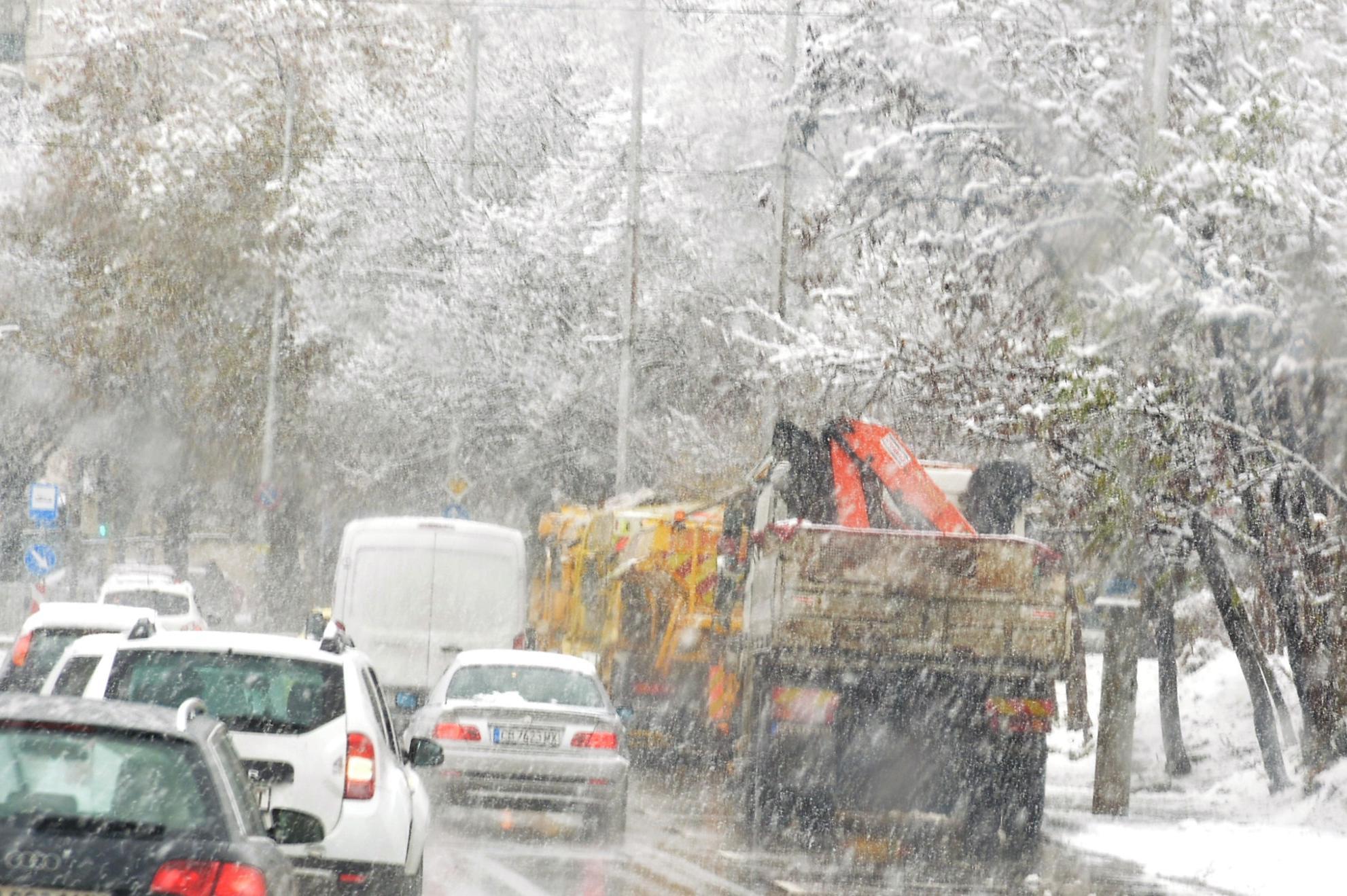 Обработени срещу заледяване са улици, стръмни участъци и мостове в София