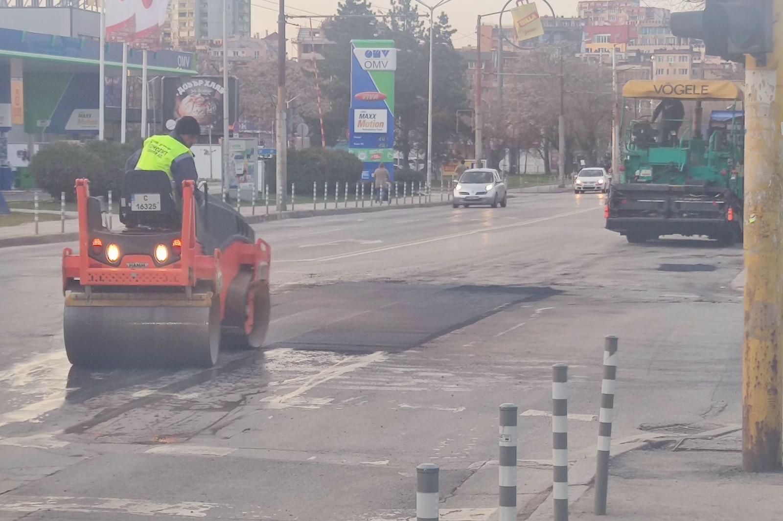 В София ремонти на пътната настилка се правят от 28 екипа
