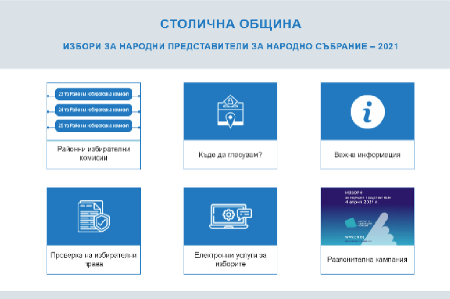 Столична община пусна Информационен портал за изборите