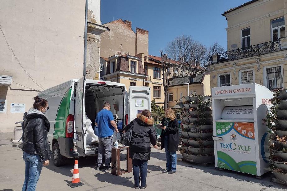 """Близо 500 кила опасни отпадъци от домакинствата събра мобилният пункт на """"П"""