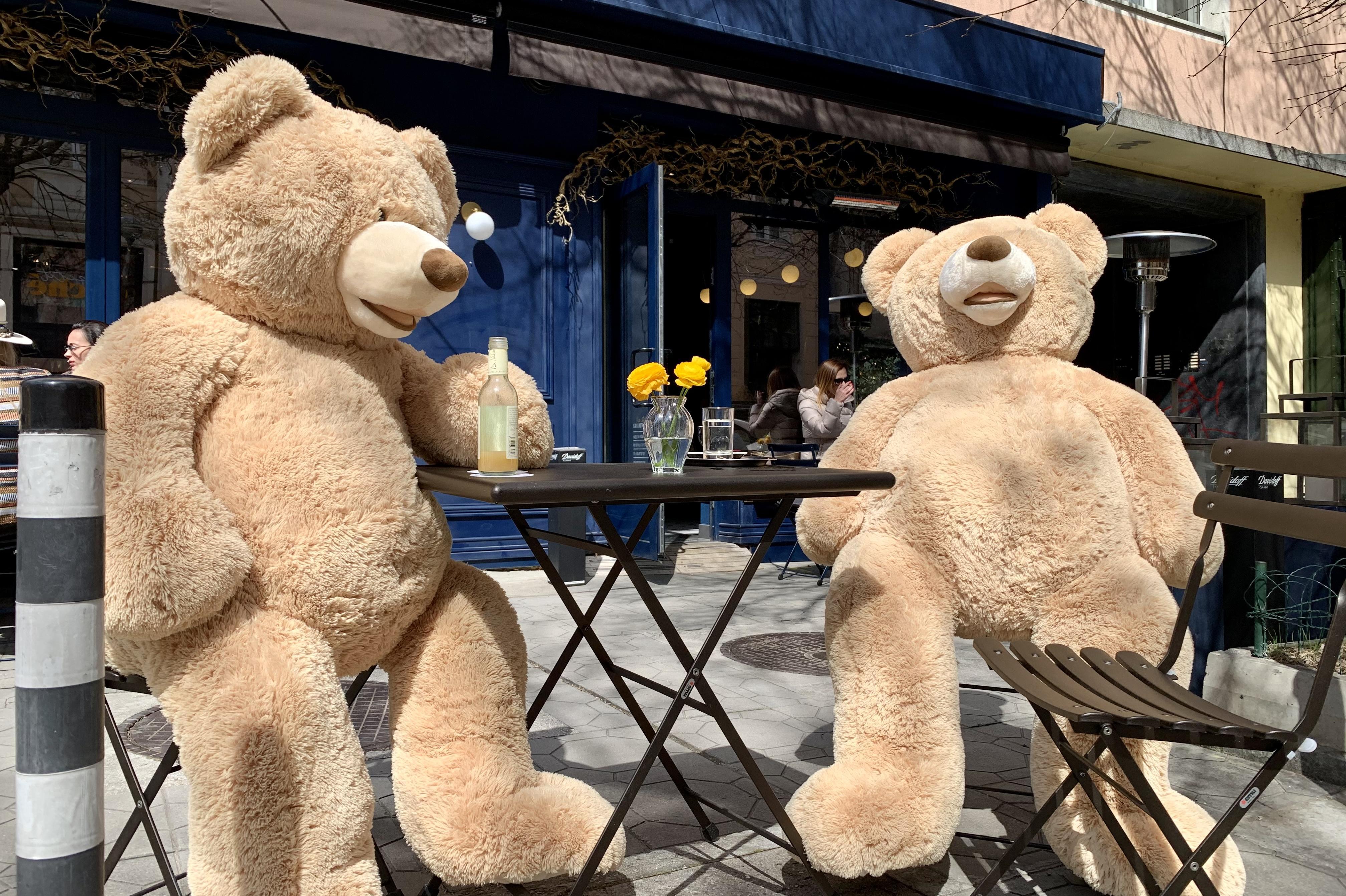 В столично заведение спазват дистанция с огромни плюшени мечки