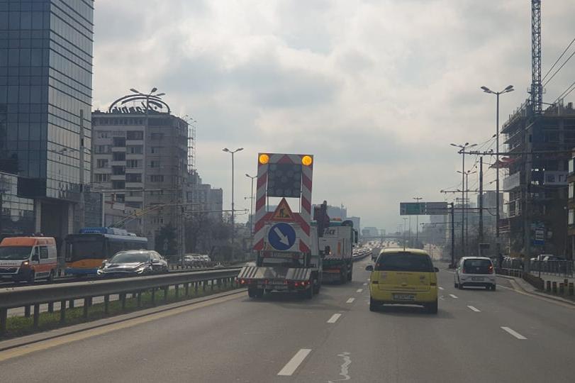 Ремонт задръсти Цариградско шосе, колоната стигна до Орлов мост