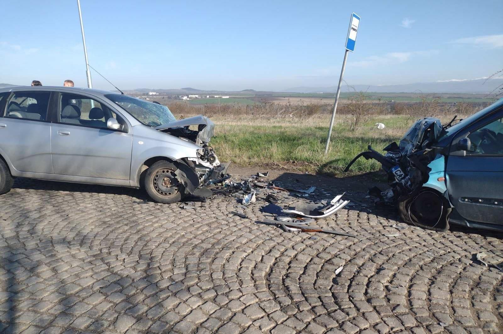 Катастрофа с две коли близо до Банкя, има пострадали