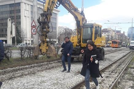"""Ремонтът по """"Цар Борис III"""": В събота махат релсите между пл. """"Македония"""" и"""