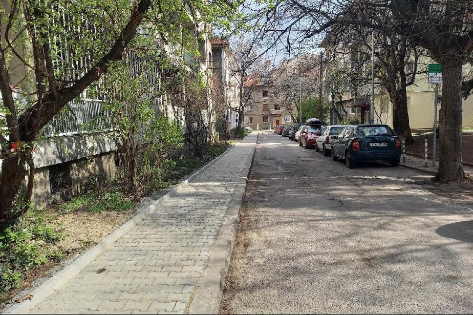 """Тротоарът на улица """"Равнец"""" е ремонтиран"""