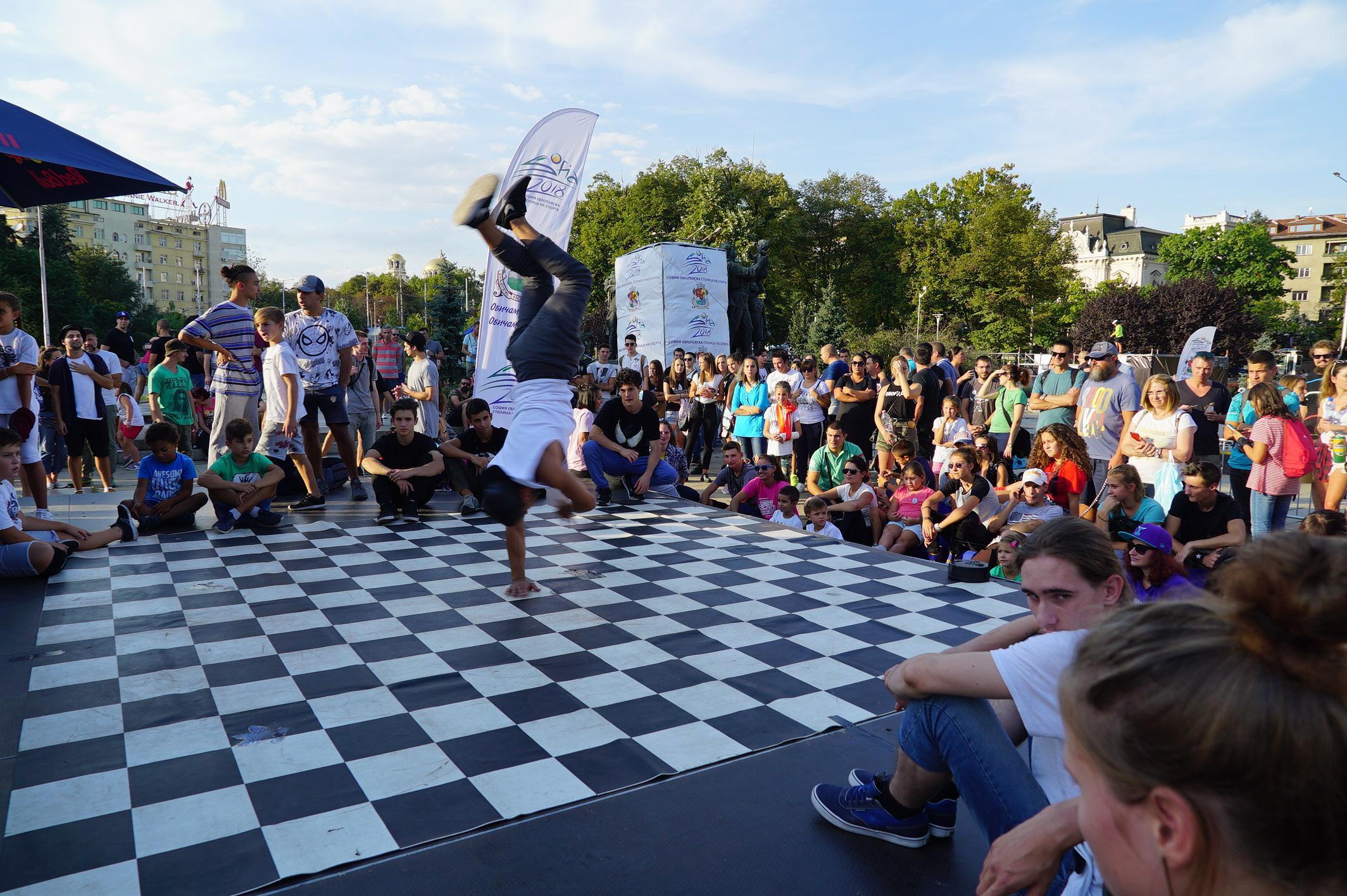 В Княжеската градина на София: Турнир по брейк, паркур  и стрийт фитнес на