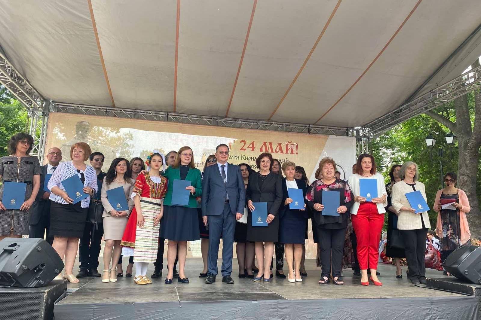 За 24 май от Столична община отличиха с грамоти за високи резултати 23 софи