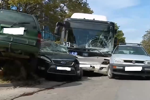 Предупреждение за уволнение за шофьора, ударил 7 автомобила в София