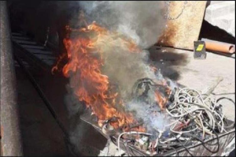 """Санкционираха две лица за горене на отпадъци на открито в """"Надежда"""""""