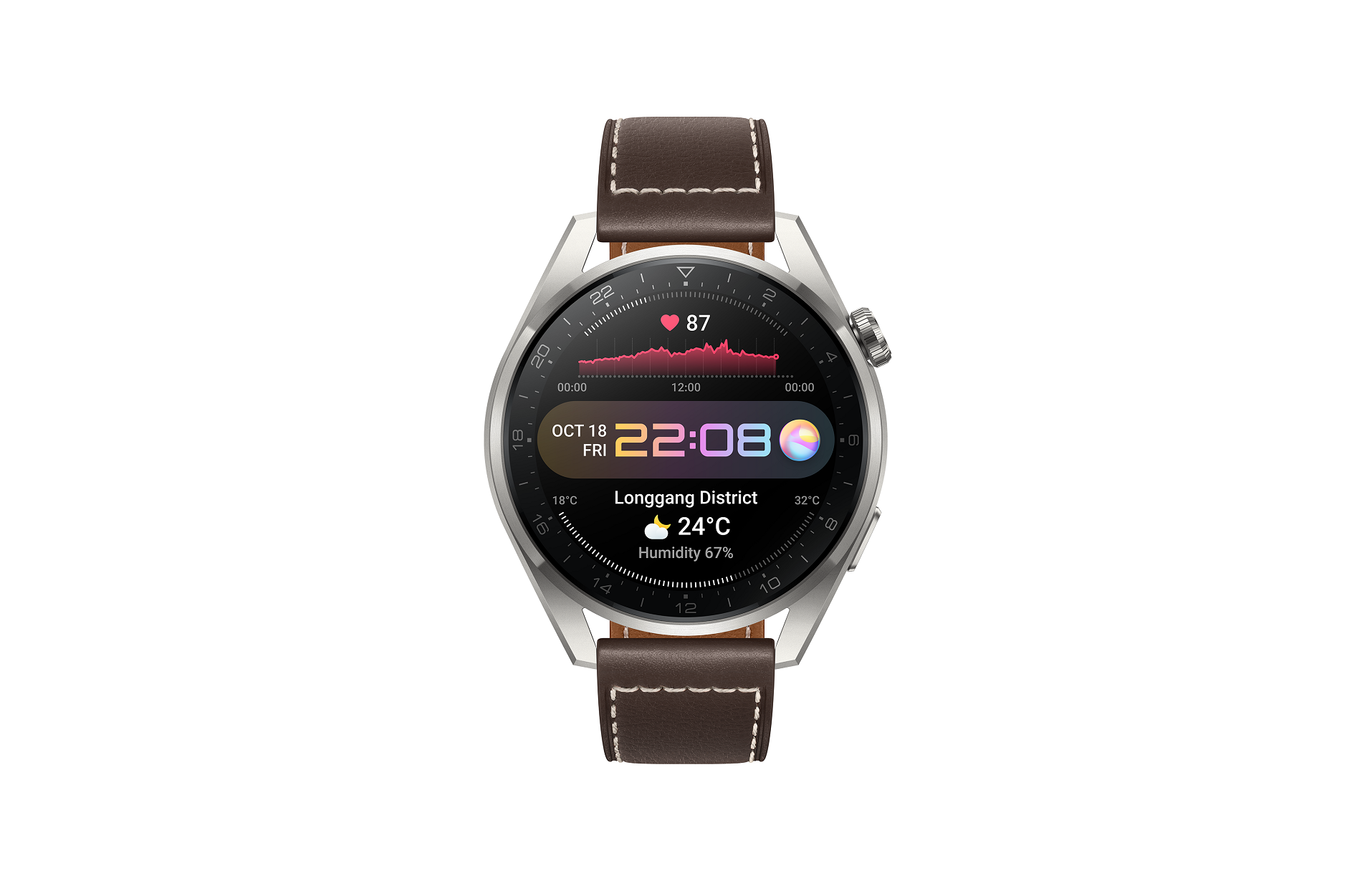 A1 Huawei Watch 3 Leather-brown