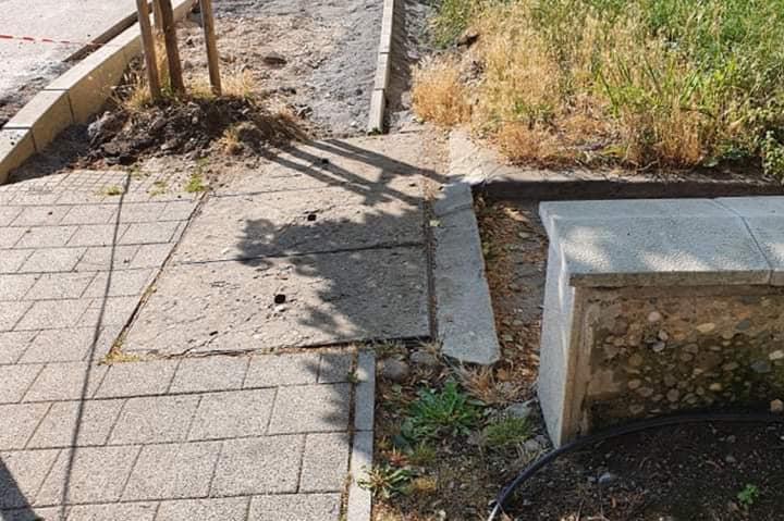"""Стартира вторият етап от ремонта на тротоарите по  ул.""""Майор Юрий Гагарин"""""""