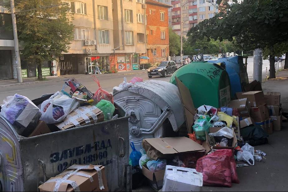 """Миризма и планина от отпадъци на ул. """"Дойран"""" в Красно село"""