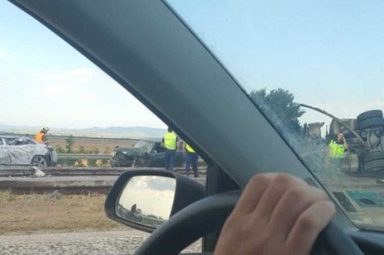 "Верижна катастрофа на автомагистрала ""Тракия"""