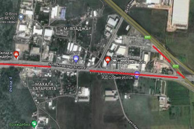 """Ремонт затваря движението от бул. """"Ботевградско шосе"""" към Околовръстен път"""