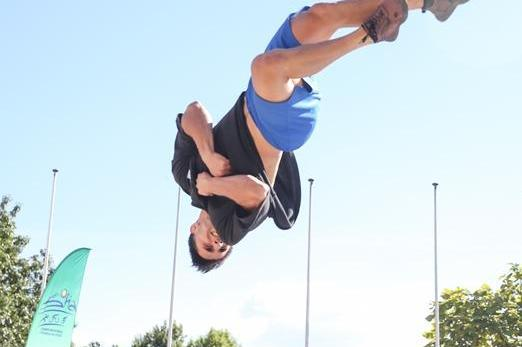 Мартин Димитров седми на свободен стил на СК по паркур в София