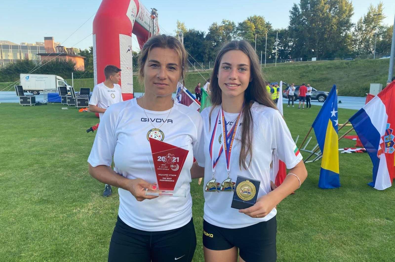 """Ученичка от столичния """"Триадица"""" спечели злато на Европейските детски атлет"""