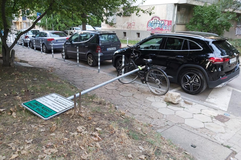 """В Триадица падна """"зелена зона"""" със завързано колело"""