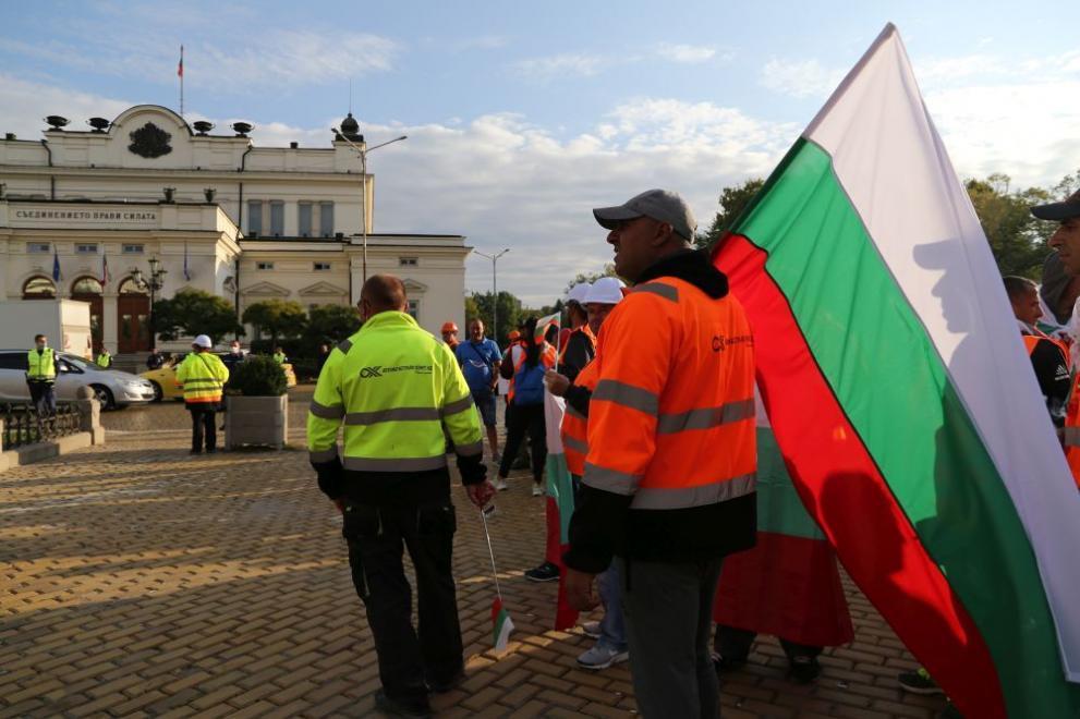 """Съставят наказателни постановления на протестиращите от браншова камара """"Пъ"""