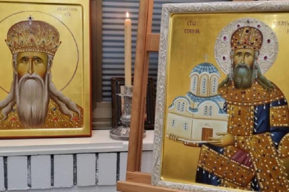 """Столичният храм """"Св. Неделя"""" посреща икона с образа на крал Стефан Милутин"""